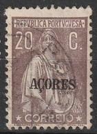 Açores Portugal, 1921 - Ceres -|- Afinsa 180 - 20  C. / Cartolina - Azores