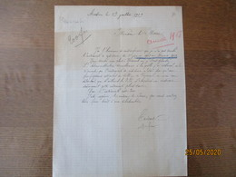 AVESNES LE 3 JUILLET 1919 COURRIER DE MONSIEUR TRICOT PROFESSEUR DETACHE A VERNEUIL DU 1er JANVIER 1918 AU 31 MARS 1919 - Manuscritos