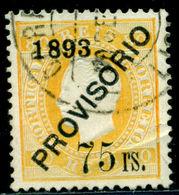 1893 King Carlos I,Definitives,PROVISORIO,Portugal,Mi.95 , 75/80R ,VFU - 1892-1898 : D.Carlos I