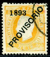 1893 King Luis I,Definitives,PROVISORIO,Portugal,Mi.92 , 80R ,VFU - 1892-1898 : D.Carlos I