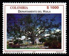 A298G-COLOMBIA- 2003 -MNH- HUILA DEPARTMENT - TREE CEIBA IN GIGANTE CITY - Kolumbien