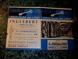 Programme Spectacles Toulouse Bi Mensuel D'information Et De Propagande Toulousaine 1960 Avec Des Pubs - Programs