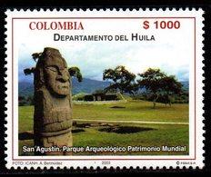 A298H-COLOMBIA- 2003 -MNH- HUILA DEPARTMENT - SAN AGUSTIN ARCHAELOGIC PARK - Kolumbien