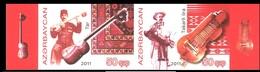 175 - Azerbaijan - 2011 - Music Instruments Belarus - 2v - MNH - Imperforated - Lemberg-Zp - Azerbaïjan