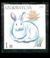 177 - Azerbaijan - 2011 - Year Of The Rabbit - 1v - MNH - Imperforated - Lemberg-Zp - Azerbaïjan