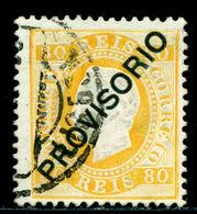 1892 King Luis I,Definitives,PROVISORIO,Portugal,Mi.86 , 80R ,VFU - 1892-1898 : D.Carlos I