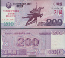 North-Korea Pick-number: CS New Uncirculated 2018 200 Won - Corée Du Nord