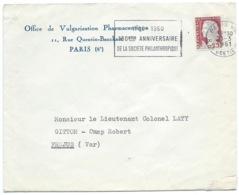 MARIANNE DE DECARIS / PARIS POUR ST RAPHAEL 1961 / OFFICE DE VULGARISATION PHARMACEUTIQUE - Marcofilia (sobres)