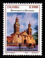 A298L-COLOMBIA- 2003 -MNH- SANTANDER DEPARTMENT - CHURCH IN SAN ANDRES CITY - Kolumbien