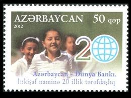 178 - Azerbaijan - 2012 - 20th Anniversary Of Cooperation With World Bank - 1v - MNH - Lemberg-Zp - Azerbaïjan
