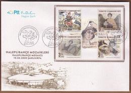 Turkey (2020) - FDC -  /   National Heritage - Archaeology - Art - Mosaics - Archery - Horses - Music - Arqueología