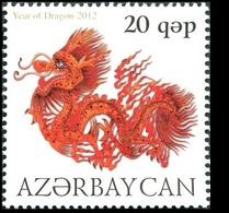 179 - Azerbaijan - 2012 - Chinese Lunar Year Of The Dragon - 1v - MNH - Lemberg-Zp - Azerbaïjan