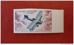 Gabon 1962 - Aviation History - Single Imperf Stamp Deluxe Mi 175B MNH - Plane Flying Space Luxe Rare - Gabun (1960-...)