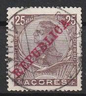 Açores Portugal, 1910 - D. Manuel II, República -|- Afinsa 126 - 25 Rs. - Azores