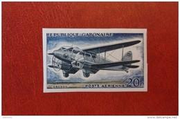 Gabon 1962 - Aviation History - Single Imperf Stamp Deluxe Mi 176B MNH - Plane Flying Space Luxe Rare - Gabun (1960-...)