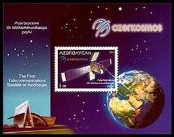 183 - Azerbaijan - 2013 - The First Telecommunications Satellite Of Azerbaijan - S/s - MNH - Lemberg-Zp - Azerbaïjan