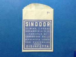 PUBBLICITÀ BUSTINA PUBBLICITARIA DISINFETTANTE SINODOR BIANCHERIA CANDEGGINA - Publicidad