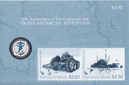 Ross, Bloc N° 1 (Cinquantenaire Du Programme Antarctique, Tracteur TE20, Navire HMNZE Endeavour...) Neuf ** - Ross Dependency (New Zealand)