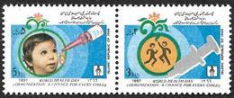 IRAN 1987  -  YT 2012A Et 2012 B - Vaccination Journée De La Santé  - NEUF** - Iran