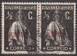 Açores Portugal, 1912 - Ceres -|- Afinsa 150 - Pair/ Paire - 1/2 C. - Azores