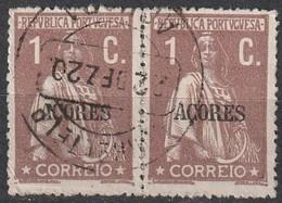 Açores Portugal, 1918 - Ceres -|- Afinsa 164 - Pair/ Paire - 1 C. - Azores