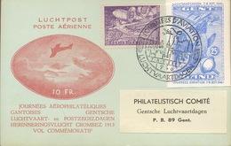 Salon Aéronautique 1946.voyagée. Avec Le E52 .    Carte Très Fraîche. Zeer Fris - Erinnophilie