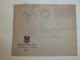 Enveloppe De 1943 (occupation Allemande) Envoyée Via La Poste De Paris à Lille - Franchise Stamps