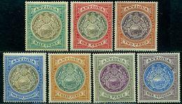 Antigua 1903 Lion,Unicorn,Seal,Barbuda,Mi.16-22,MLH,CV=$210 - Antigua Und Barbuda (1981-...)