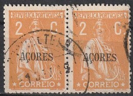 Açores Portugal, 1918 - Ceres -|- Afinsa 166 - Pair/ Paire - 2  C. - Azores
