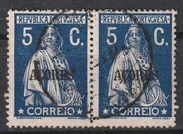 Açores Portugal, 1912 - Ceres -|- Afinsa 155 - Pair/ Paire - 5 C. - Azores