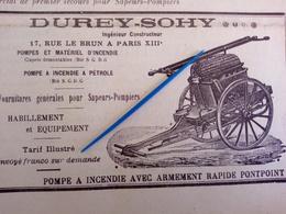 1912 SAPEURS POMPIERS - DUREY SOHY - DEFENSE DES FORETS - MONTROUGE - BELFORT - SEINE - Books, Magazines, Comics