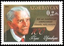 185 - Azerbaijan - 2014 - 100th Birth Anniversary Of Writer Ilyas Efendiyev - 1v - MNH - Lemberg-Zp - Azerbaïjan