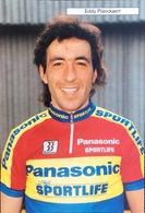 Postcard Eddy Planckaert - Panasonic-Sportlife - 1990 - Ciclismo