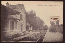 13 Plan D' Orgon La Gare Avec Train Locomotive à Vapeur - Autres Communes