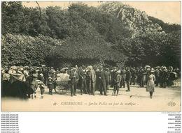 50 CHERBOURG. Jardin Public Porte Jour De Musique 1913 - Cherbourg