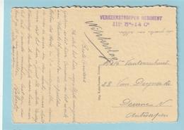 Zichtkaart ZICHEM Met Militaire Stempel VERKEERSTROEPEN REGIMENT - Postmark Collection
