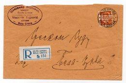1939 KINGDOM OF YUGOSLAVIA,SERBIA,BELA CRKVA LOCAL REGISTERED COVER,KING PETER II,VLADIMIR VOJNOVIC LAWYER - 1931-1941 Kingdom Of Yugoslavia