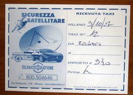 ITALIA Ticket TAXI Milano  - 2007 Usato - Transportation Tickets