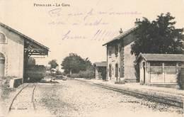 13 Peyrolles  La Gare Correspondance 1914 - Peyrolles