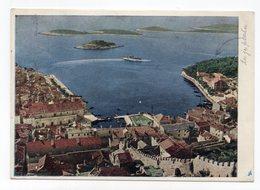 1958 YUGOSLAVIA, CROATIA, ISLAND HVAR TO BELGRADE, ILLUSTRATED POSTCARD, USED - Joegoslavië
