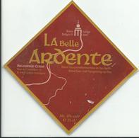 Etiquette Décollée Bière La Belle Ardente Brasserie Cosse Grace-Hollogne - Bière