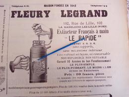 1912 SAPEURS POMPIERS - FLEURY LEGRAND - LA MADELEINE LEZ LILLE - LE HAVRE - ORAN - Books, Magazines, Comics