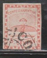 ARGENTINA Scott # 4 Used - 1858-1861 Confederazione