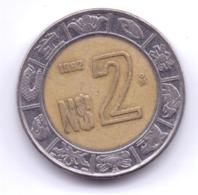 MEXICO 1992: 2 Pesos, KM 551 - Mexico