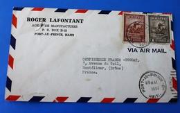 Amérique Port Au Prince Haïti Lettre & Document 1952 - AIR MAIL - Haiti