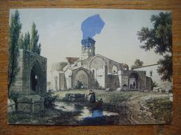 France - Bouches Du Rhône (13) - ARLES - Les Alyscamps, La Chapelle St Honorat ( Tachée ) --- Carte Gaufrée - Arles