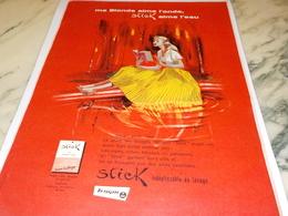 ANCIENNE PUBLICITE AIME L EAU TISSU STICK  TERGAL  1956 - Historische Bekleidung & Wäsche