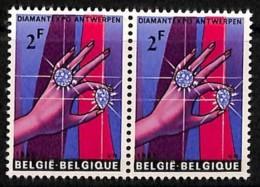 D - [814137]TB//**/Mnh-BELGIQUE 1965 - N° 1314, DIAMANTEXPO Anvers, Le Diamant, Exposition, Minéraux, Paire - Mineralien