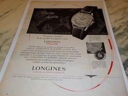 ANCIENNE PUBLICITE PRIVILEGE DES ELITES  MONTRE LONGINES  1956 - Jewels & Clocks