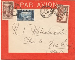 "Maroc.  Enveloppe Perfin ""BEM"", Post Aérienne - Marokko (1891-1956)"
